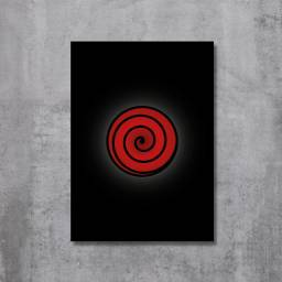 Placa Decorativa Naruto - Mangekyou Sharingan Indra