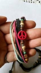 Kit 2 pulseiras Símbolo da Paz
