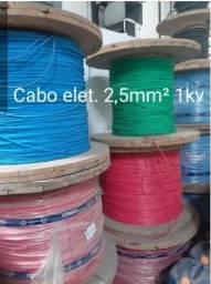 Cabo flex 2,5mm 1Kv azul e verde - primeira linha