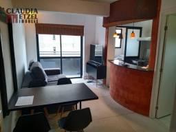 Apartamento 01 Dormitório Duplex Mobiliado - Piscina com Raia e Sala de Ginástica na Cober