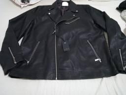 Jaqueta de couro otima qualidade estilosa nova