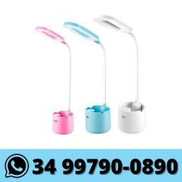 Luminária Abajur Touch Sem Fio Haste Flexível