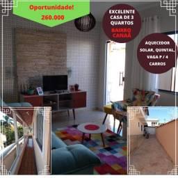 Linda Casa de 3 Qtos. no bairro Canaã em São Lourenço-MG