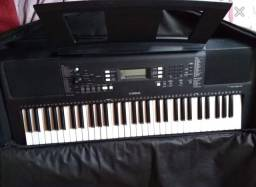 Teclado Yamaha 363 novo+capa acolchoada+porta partitura