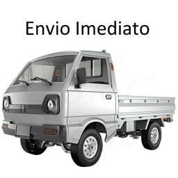 Caminhonete Caminhão RC Automodelismo Elétrico Com Eixo Cardã e Chassis 1:10 WPL D12