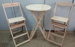 Jogo mesa e cadeira BRISTRO - SEM PINTURA