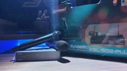 Microfone lexsen duplo