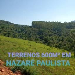 T102-Vendo lotes de 600m2 em Nazaré Paulista por 45 mil reais ?