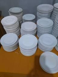Pratos de sobremesa porcelana