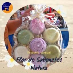 Flor de sabonete natura personalizada