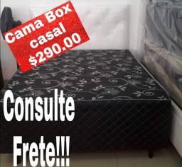 ?CAMA BOX CASAL CONJUGADA COM COLCHÃO FIXO NA BASE