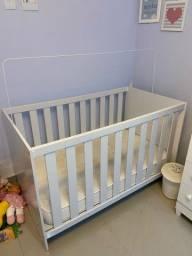 Berço que vira mini-cama + colchão Ortobom (usados)