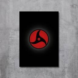 Placa Decorativa Naruto - Mangekyou Sharingan Itachi