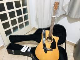 Violão elétrico Fender CD60CE Com case e acessórios.