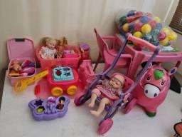 Lote de brinquedos menina-  até 4 anos.