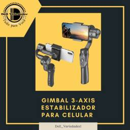 Gimbal 3-axis Estabilizador para Celular - Produto novo. Dell Variedades.