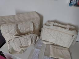 Kit Malas Maternidade Cor Creme- Usado