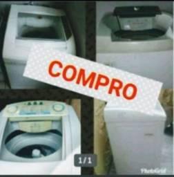 Máquina de lavar roupas com defeito