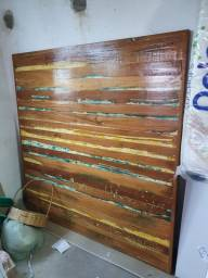 Tampo de mesa madeira antiga.