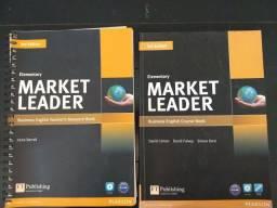 Inglês nível básico - livro do professor e livro do aluno - Market Leader