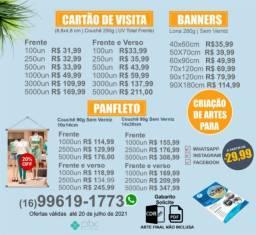 Panfleto. Cartão de visita. Banners Promoção