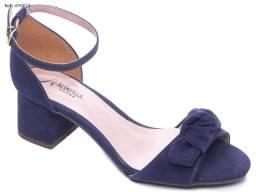 Sandália feminina Alta Villa Shoes revestido em nobuck