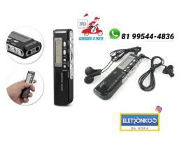 Gravador De Voz Digital Usb 8gb Mp3 Espião Microfone + Fone so zap
