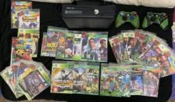 Título do anúncio: Xbox 360 desbloqueado + 2 controles + de 40 jogos
