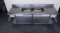 Pia Profissional 2008x700x900mm - Fabricante Ideal Inox
