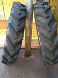 Vendo pneus para trator mf ou ford