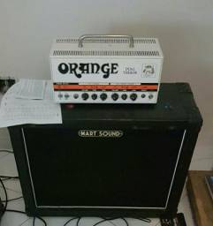 Amplificador Orange Dual Terror + caixa 2 x 12