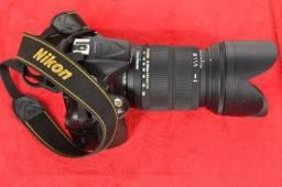 Camera Nikon D5200+lente 18-200 Lente Sigma Zerada