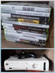 Xbox 360 + jogos + 1 controle