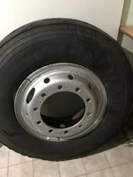 Roda + pneu Goodyear 1.000