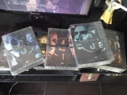 Box dvds arquivo x x-files 1-2-3-4-5-6-8 + filme ed. colecionador
