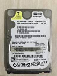 HD 160 GB para notebook
