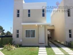 Casa em condominio fechado no eusébio, 120 metros, 3 suites, com lazer e perto da CE040