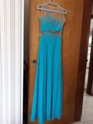 Vestido longo crepe de seda novíssimo tamanho P e4926afffed