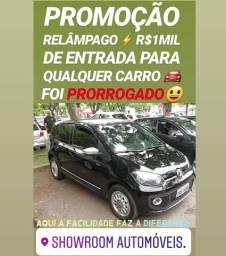 Super SHOWROOM AUTOMÓVEIS! R$1MIL DE ENTRADA(UP 1.0 BLACK WHITE 2015)