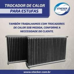 Trocadores de calor para estufas e secadores de laminados de madeiras
