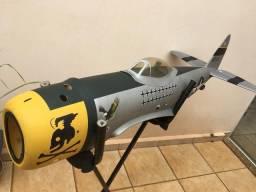 Aeromodelo P-47 Retratil com eletrônico troca pôr IPad
