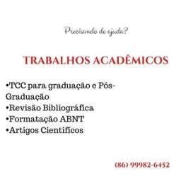 Elaboração de trabalhos universitários - TCC, Monografia, Formatação