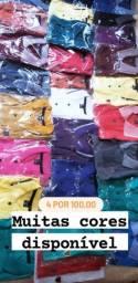 4 camisas gola polo por 100