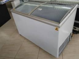 Freezer Metalfrio horizontal 265L, porta de vidro, 220v usado Frete Grátis