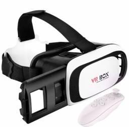 Óculos Vr Box 2.0 Realidade Virtual 3d Android Ios +controle