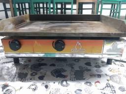 Chapa churrasqueira à gás 60x45 Metalmaq