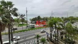 Apartamento locação mobiliado frente praia, 3 quartos (1 suite) Aparecida - Santos/SP