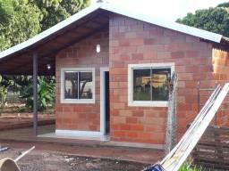 Casa pré moldada em bloco estrutural cerâmico