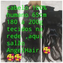 Vendo rede cabelo humano 100% ,65cm, 180a 200g  fabrico redes .