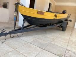Barco completo troco por modelo bass boat com motor acima de 25 HP